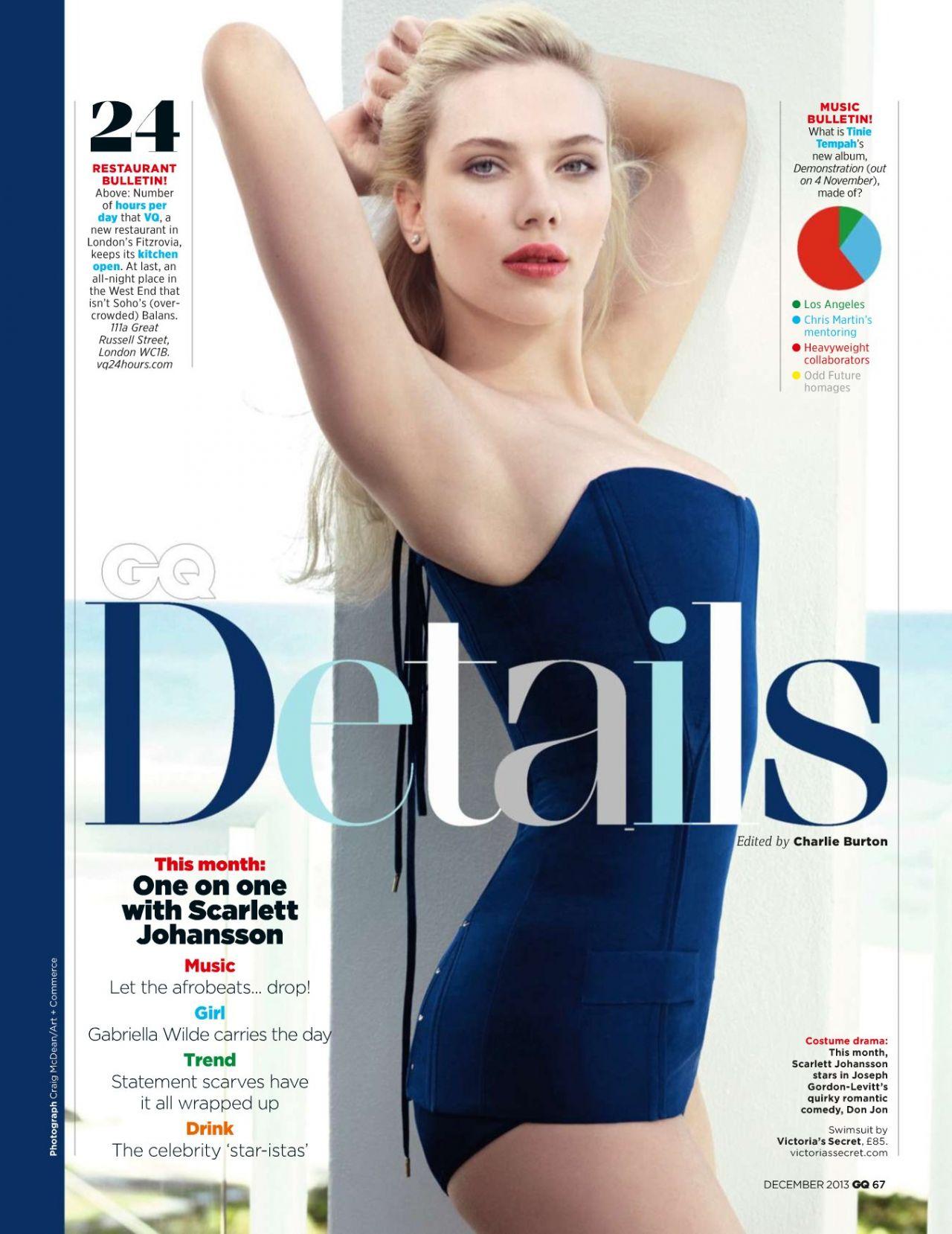 15 de noviembre: GQ ha nombrado a Scarlett Johansson Babe of the Year, y aparece en una publicación sexy en la edición número 15 anual de Men of the Year de las revistas.