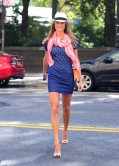 Stacy Keibler Street Style - Out in New York City