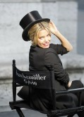 Sylvie Meis - Hunkemoller photoshoot on the Alexandre III bridge in Paris