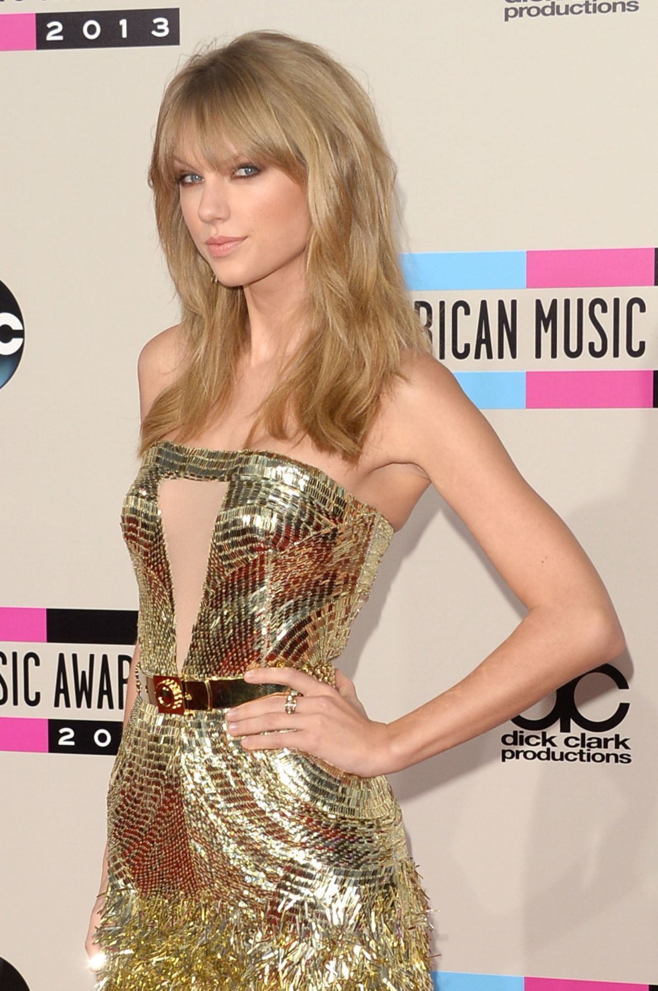 Taylor Swift Looks Hot on Red Carpet - 2013 American Music Awards in Los Angeles • CelebMafia