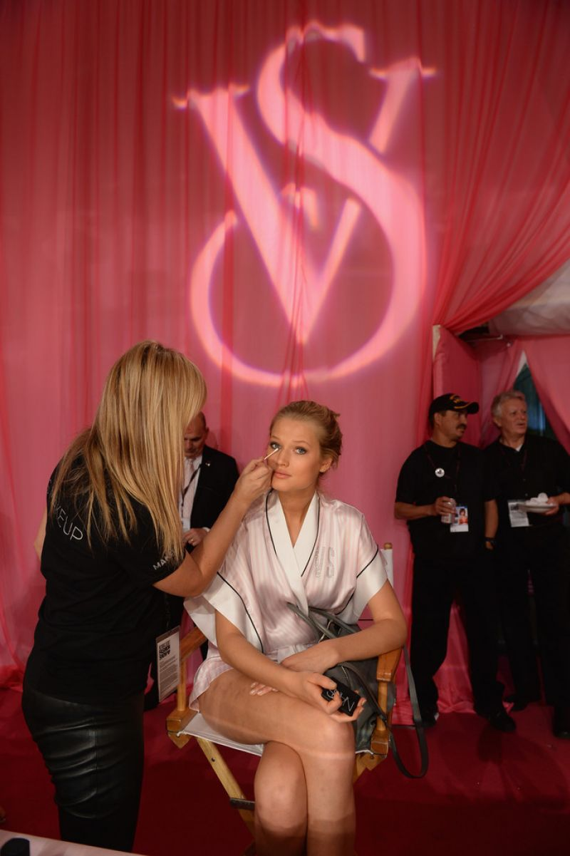 Toni Garrn - Backstage Victoria's Secret Fashion Show in New York City