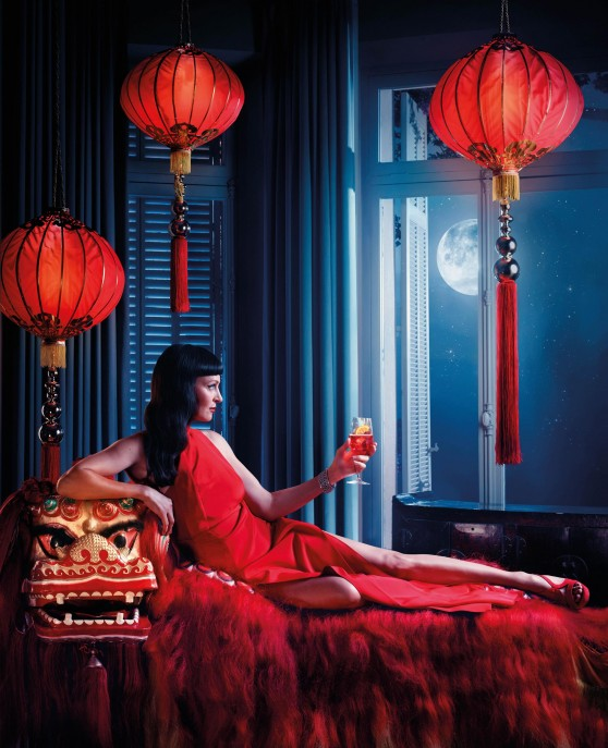 Uma Thurman Photoshoot - Campari Calendar 2014