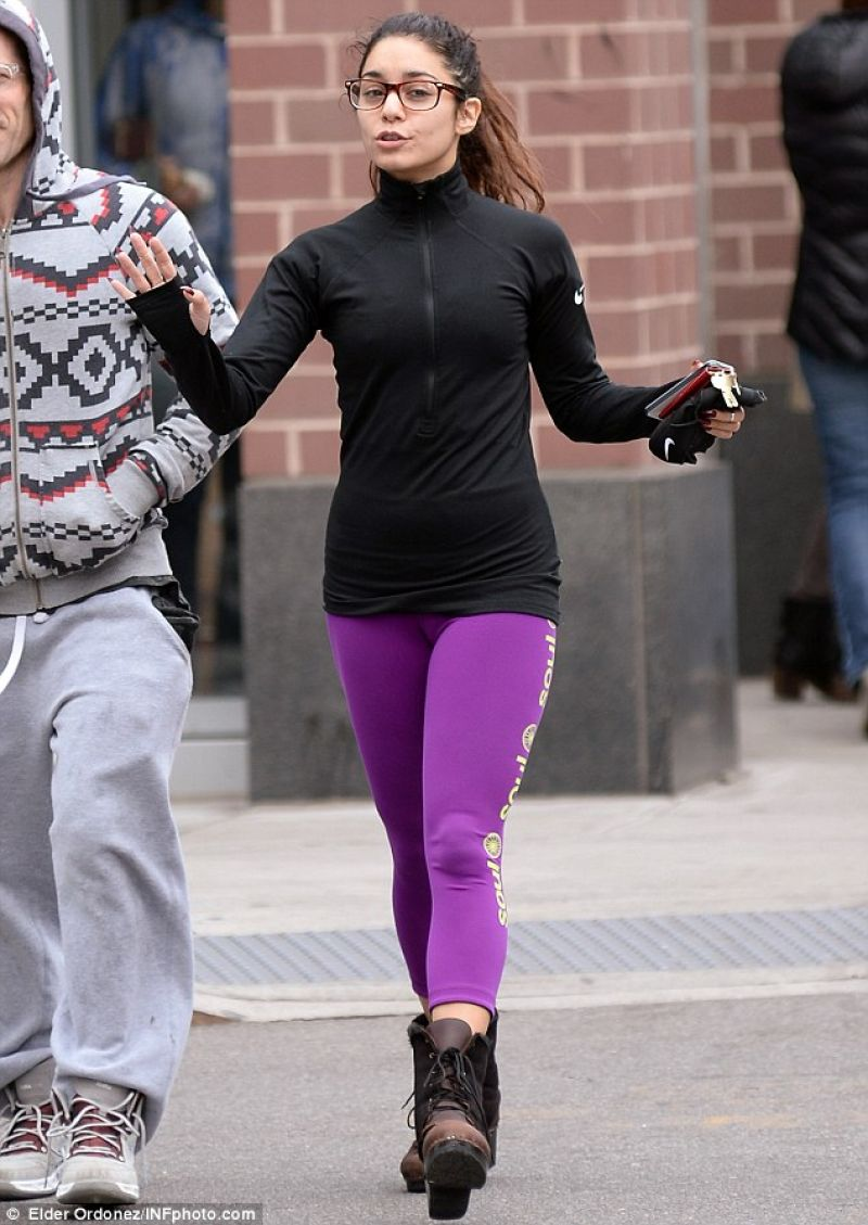 Vanessa Hudgens Street Style In Tights In New York