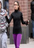 Vanessa Hudgens Street Style - in tights in New York