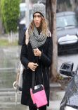Jessica Alba Street Style - Breakfast at Le Pain Quotidien in West Hollywood