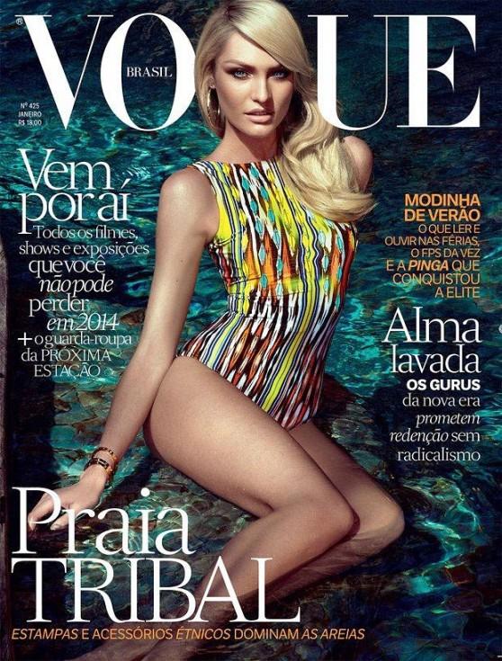 Candice Swanepoel - VOGUE Magazine (Brazil) - January 2014 Issue