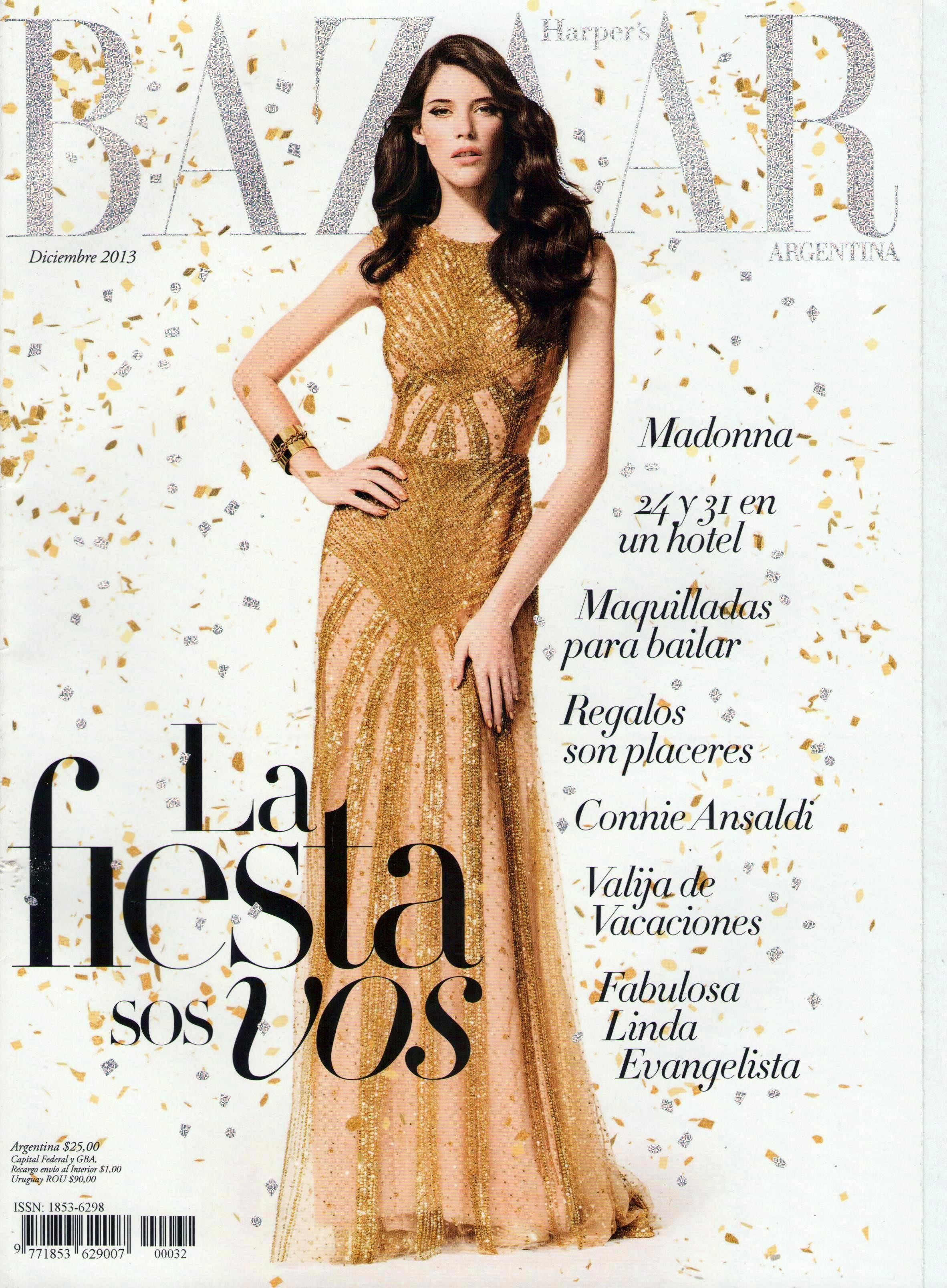 Carla Ciffoni Layers In Fall Knitwear For Elle Uk By: HARPER'S BAZAAR (Argentina)