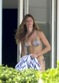 Gisele Bundchen in a Bikini -  Beach in Miami - December 2013