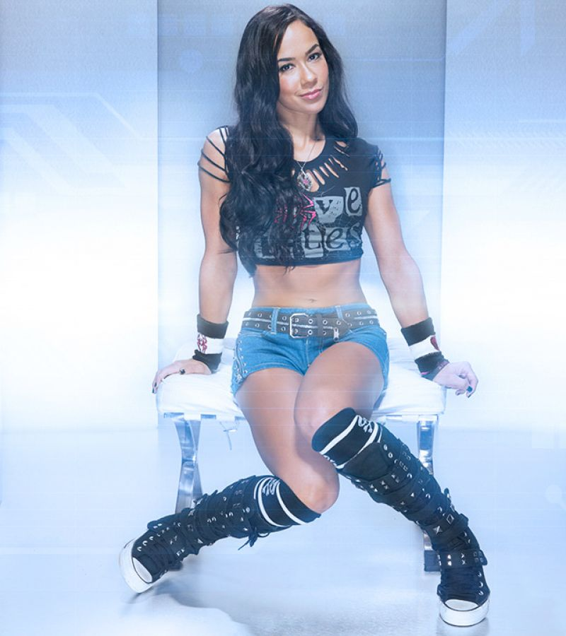 AJ Lee - Battle Ready Photoshoot
