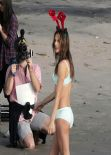 Alessandra Ambrosio Photoshoot for Victoria