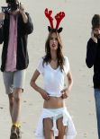 Alessandra Ambrosio Photoshoot for Victoria