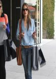 Alessandra Ambrosio Street Style - in Skinny Jeans Out for Shopping West Hollywood