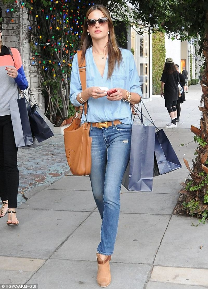 Ambrosio Street Style - in Skinny Jeans Out for Shopping West ...