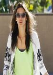 Alessandra Ambrosio Street Style  - Out in Brentwood - November 2013