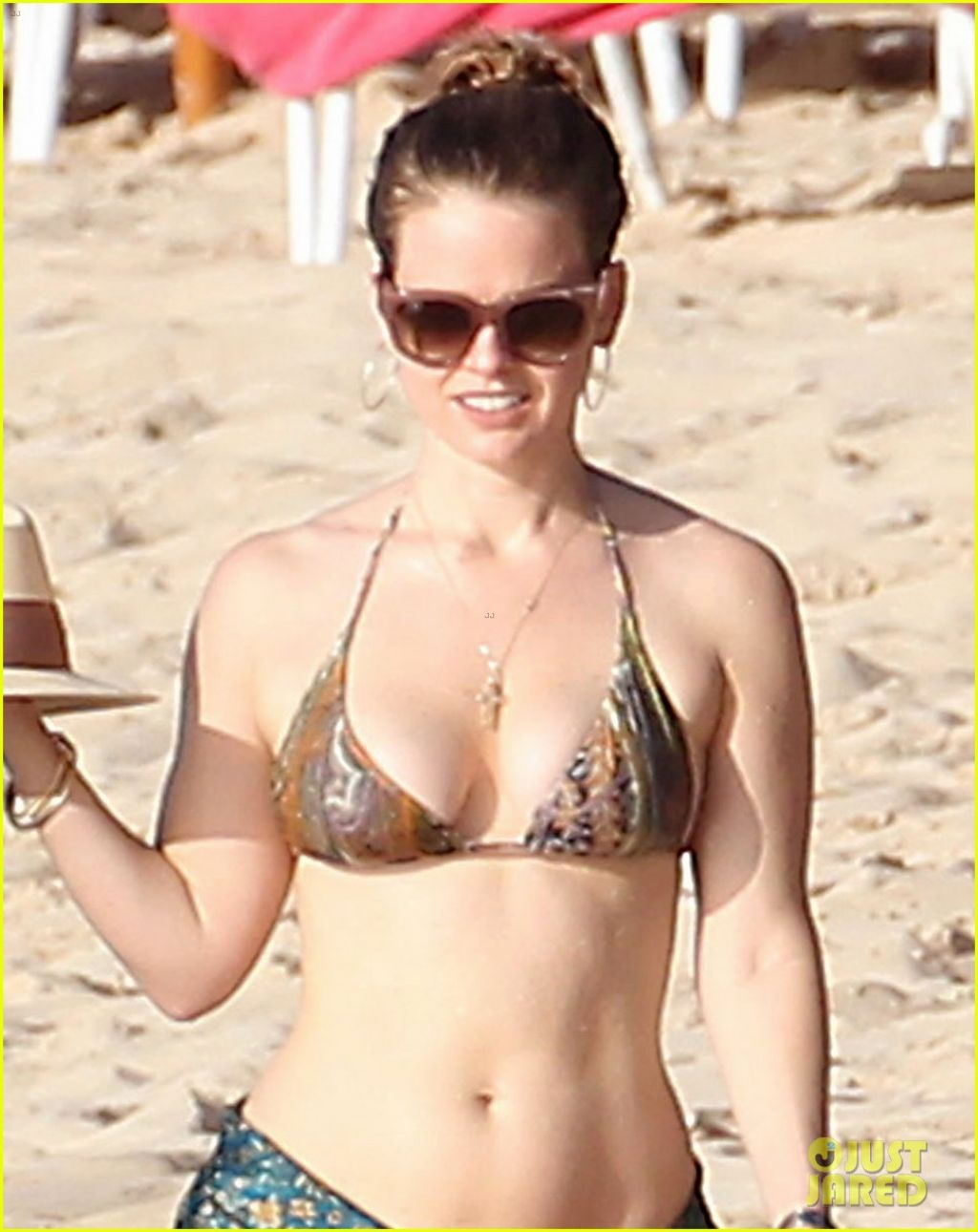 Alice Eve In A Bikini Barbados December 2013