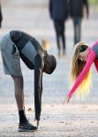 Amy Willerton - Outdoor Work Out - Battersea Park in London - December 2013