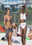 Angela Simmons in a Bikini - Beach In Miami - December 2013