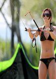 Anna Fenninger in a Bikini - Kitesurfing