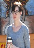 Anne Hathaway Casual Style - Out in Hollywood - November 2013