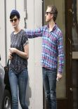 Anne Hathaway Wears Jeans - Out in Los Angeles - December 2013