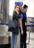 Audrina Patridge Street Style - at LAX Airport - December 2013