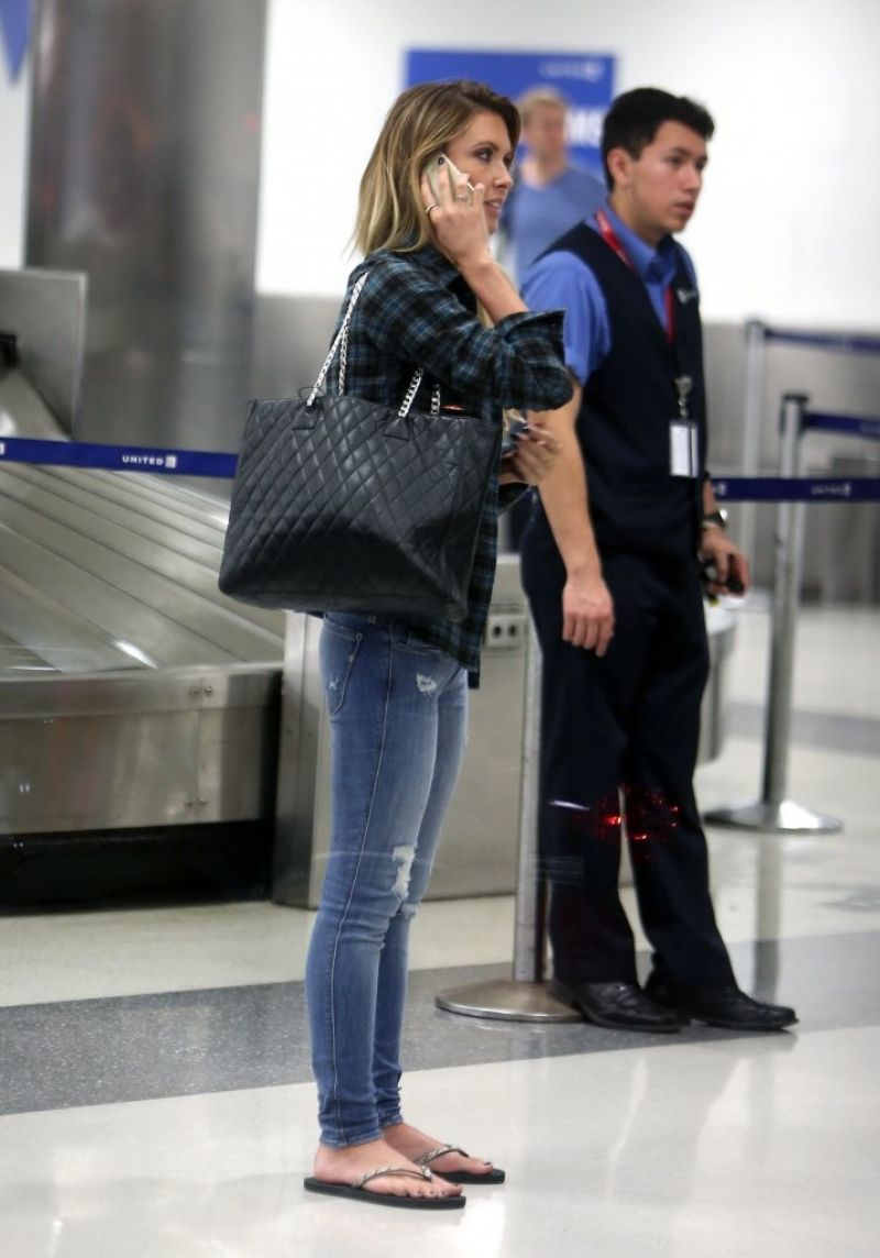 Audrina Patridge Street Style At Lax Airport December 2013