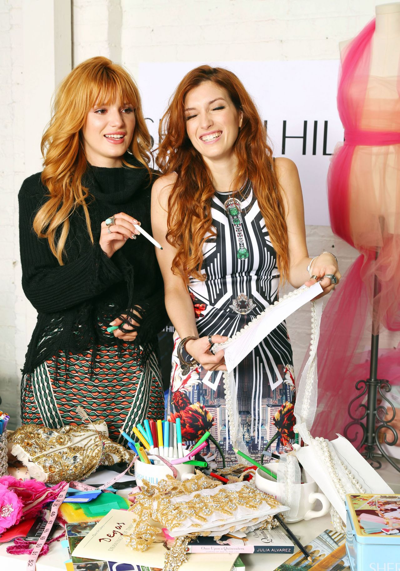 Bella Thorne Dani Thorne Meeting For Sherri Hill Collection In