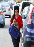 Brenda Song Street Style - in Jeans out Shopping in Los Angeles - Dec. 2013