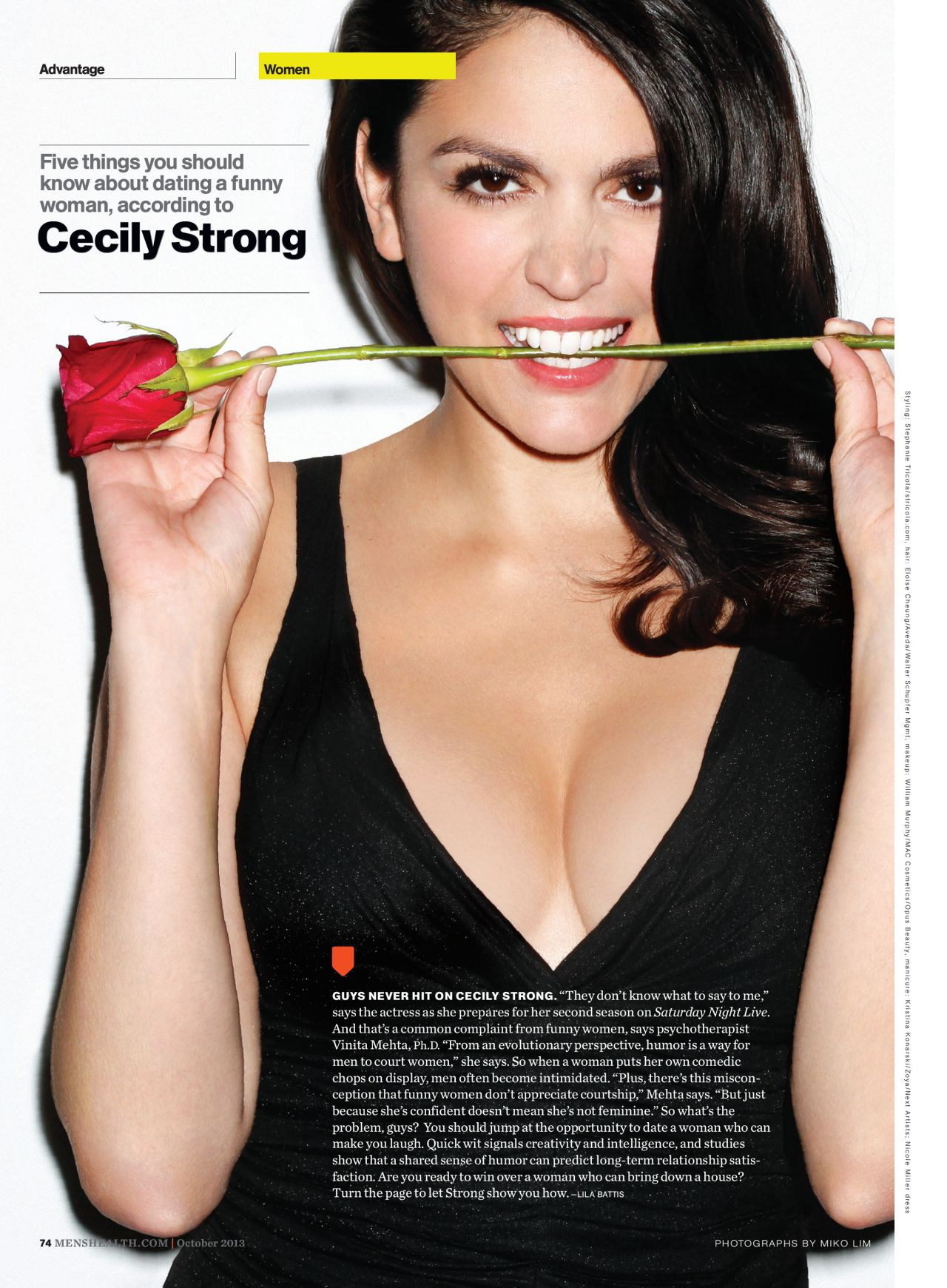 Cecily Strong Men S Health Magazine October 2013 Issue