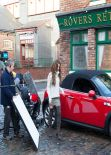Cheryl Cole and Michelle Keegan - Coronation Street Set - ITV Studios - Manchester - December 2013