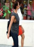 Christina Milian Street Style - in Miami - December 2013