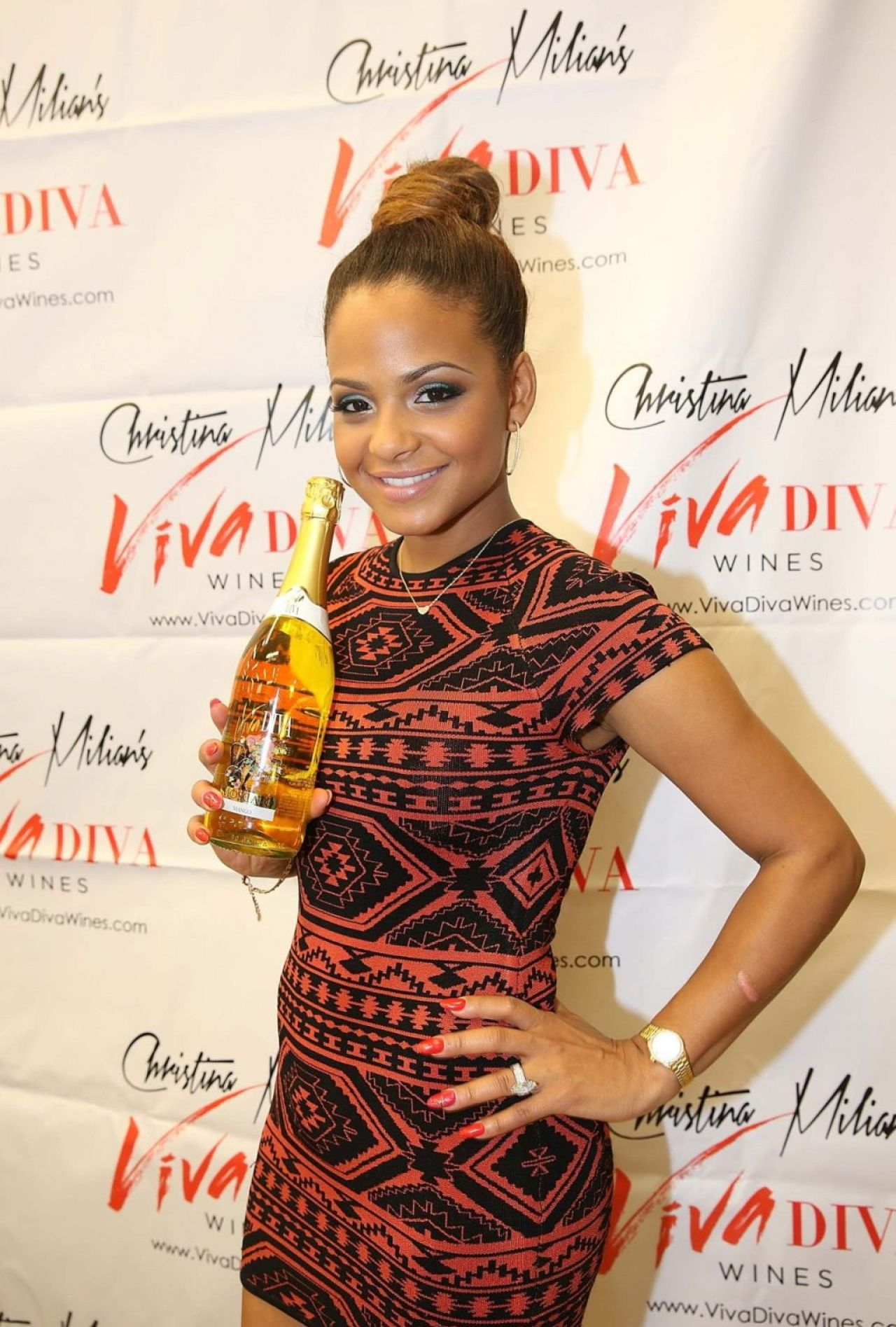 Christina Milian - Viva Diva Wine Signing - Miami December 2013