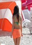 Claudia Romani Bikini Photoshoot -  W Hotel in Miami Beach - December 2013