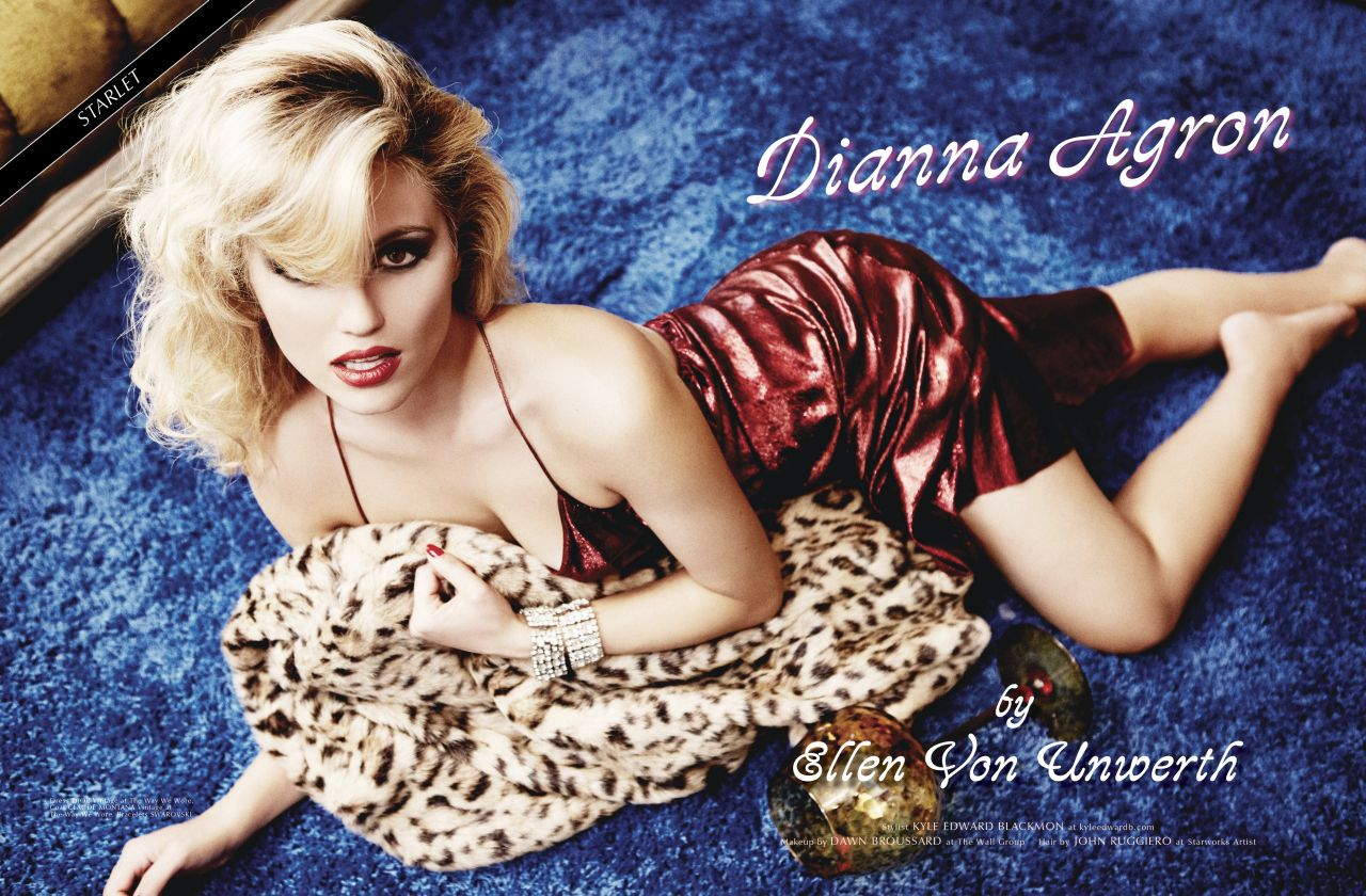 Dianna Agron - Photoshoot For GALORE Magazine