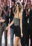 Elisabetta Canalis on the Italian Comedy Show Zelig 1 - December 2013