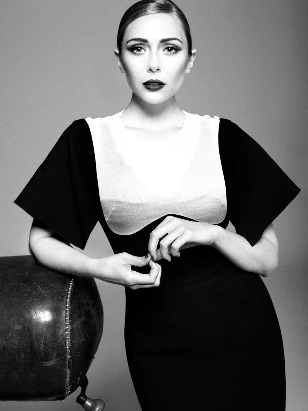 Elizabeth Olsen Tom Munro Photoshoot For Vogue Magazine