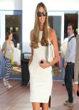 Elle McPherson Shows Off Her Impeccable Figure - Visits Art Basel - December 2013