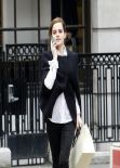 Emma Watson Street Style - Shopping Around Bond Street in Central London - December 2013