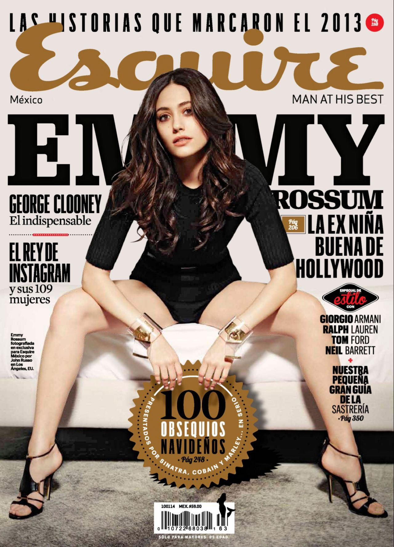 Emmy Rossum - ESQUIRE Magazine (Mexico) - December 2013 Issue