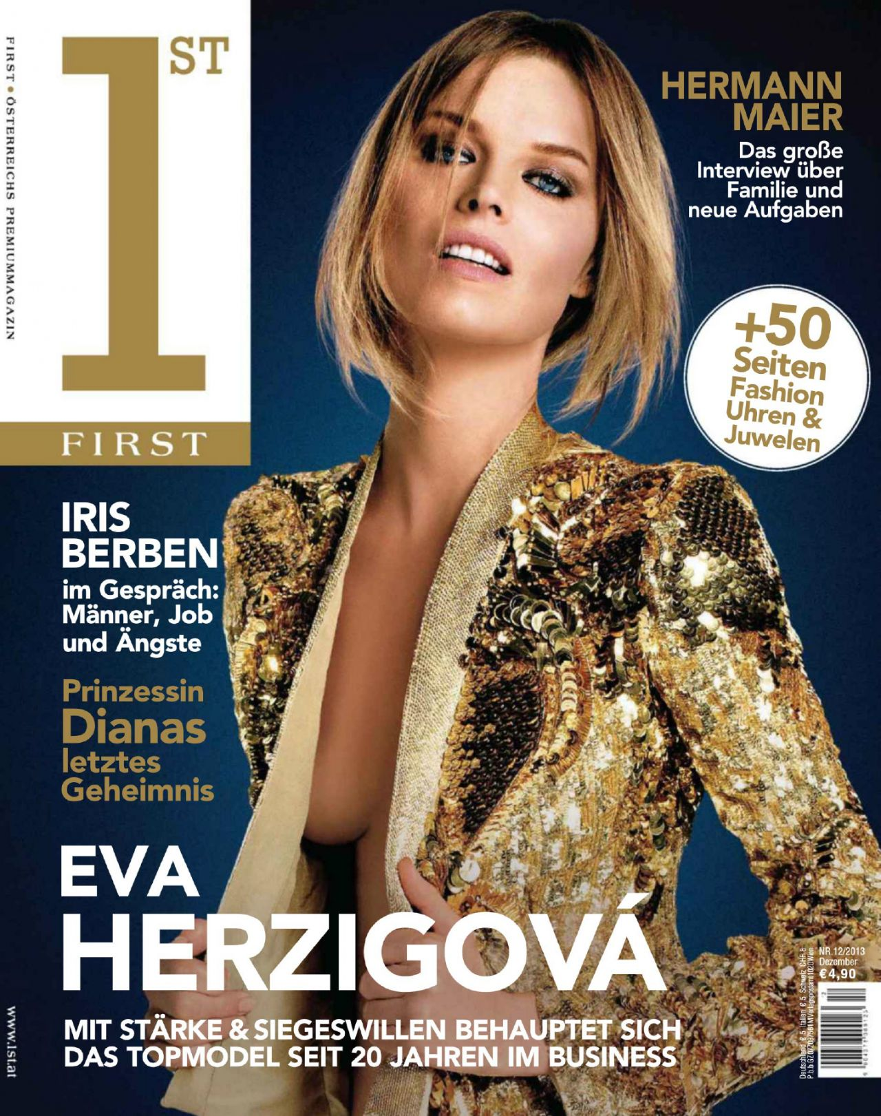 Eva Herzigova - FIRST Magazine (Germany) - December 2013 Issue
