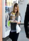 Hilary Duff Street Style - Out for Shopping in Beverly Hills - December 24, 2013