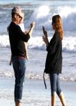 Jessica Alba at the Beach in Malibu - December 2013