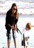 Jessica Alba at the Beach in Malibu - December 2013