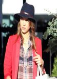 Jessica Alba - Street Style - Shopping at Club Monaco in Beverly Hills - December 2013