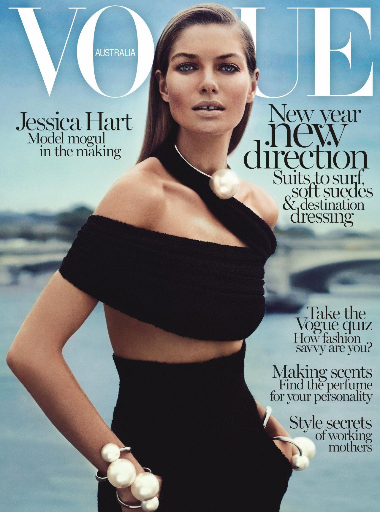Jessica Hart - VOGUE Magazine (Australia) - January 2014 Issue