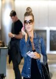 Joanna Krupa Street Style - At LAX Airport - December 2013