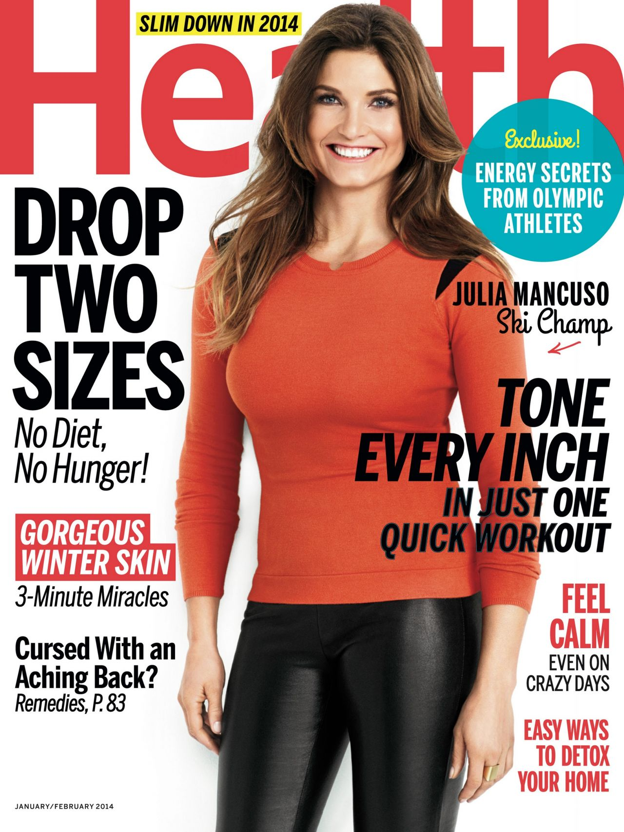 Julia Mancuso - HEALTH Magazine - January/February 2014 Issue