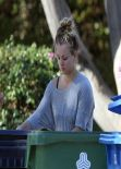 Kaley Cuoco - Outside Her Home & at Starbucks in Los Angeles - December 2013