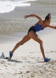 Karlie Kloss - Photoshoot for Gilles Benison on the Beach in Barths