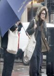 Keira Knightley Street Style - Shopping in London - December 2013